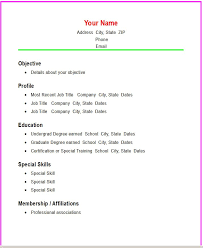 Quick Easy Resume Fresh Simple Easy Resume Templates Best Sample