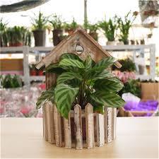Decorative Planter Boxes Hanging Plant Basket Decor Garden Supplies Flower Pot Wooden 70