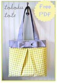 Free Tote Bag Patterns Beauteous The Tohoku Tote Bag Free Pattern Tutorial How To Sew Box Pleat