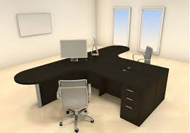 person office desk. T-shaped-desk-for-two-people. Two Persons Modern Executive Office Workstation Person Desk S