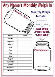 Monthly Weight Loss Chart Personalised Reusable Diet Weight Loss Chart Progress