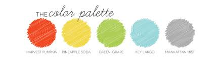 Color palette for a combined craft room and baby's room