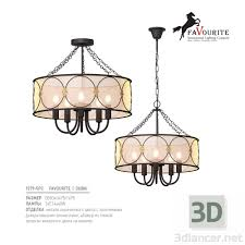 3d модель <b>Люстра Favourite</b> Dubai <b>1579</b>-<b>5PC</b>,<b>Favourite</b> Light max ...