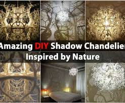 wiring a homemade light fixture cleaver amazing shadow chandelier inspired by nature