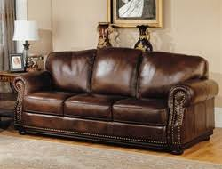 prestige albany walnut leather sofa by parker house palb 9300