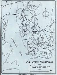 Documents Map Of Old Lyme Waterways Florence Griswold Museum