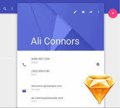 Android Material Design UI Kit for Sketch - FreebiesUI