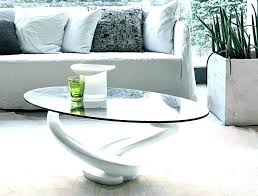 gloss coffee table dwell white oval coffee t white