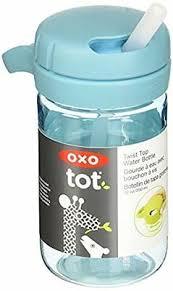 OXO Tot Twist Top Water Bottle <b>Baby</b> 350ml <b>12oz</b> Aqua PVC BPA ...