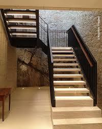 Treppenpodest einläufige treppe mit zwischenpodest (gelenkig gelagert) einläufige treppe mit zwischenpodest (eingespannt) einläufige treppe mit zwei podesten (gelenkig stahlbetonbau nach en 1992. 2 Laufige Stahlwangentreppe Mit 180 Zwischenpodest Und Vertikalstabgelander