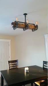 chandeliers wood beam chandelier distressed ceiling pipe light barn reclaimed industrial wooden uk