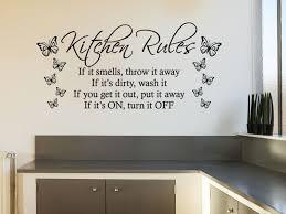 kitchen rules with butterflies modern wall art quote vinyl sticker decal on wall art kitchen rules with kitchen rules with butterflies modern wall art quote vinyl sticker decal