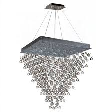 icicle collection 16 light chrome finish and clear crystal square chandelier 32 l x 32