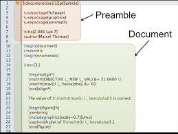 latex code example