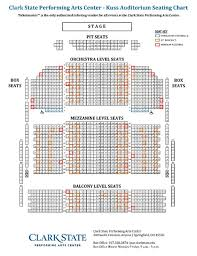 Clark State Performing Arts Center Seating Chart Seating Information Clark State Performing Arts Center