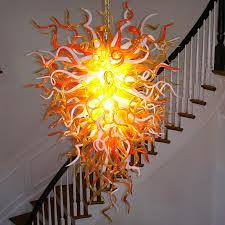 amazing blown glass chandelier the anemone 29 hand blown glass chandelier