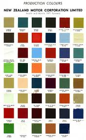 Morris Minor Colours Chart Nzcolours