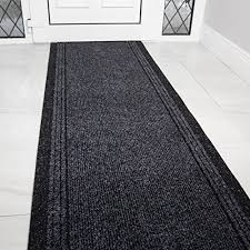 grey black rubber backed very long hallway hall runner narrow rugs custom length sold and