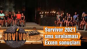Peki, 17 mart survivor sms oylaması sıralaması açıklandı mı? Survivor 2021 Sms Siralamasi 13 Nisan Birinci Kim Oldu