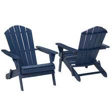 midnight folding outdoor adirondack chair 2 pack