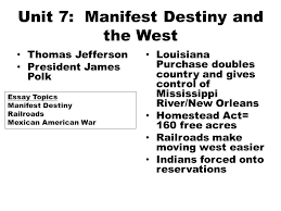 mid term review wednesday th m c questions  9 unit 7 manifest destiny