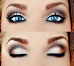 how to do smokey eye make up for blue eyes