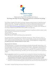 Cover Letter For School Psychology Internship Eursto Com
