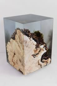 furniture made from tree stumps. tree stump set into resin preserves all the surface moss and other details furniture made from stumps p