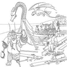 How To Train Your Dragon Coloring Pages For Kids To Print Vikings