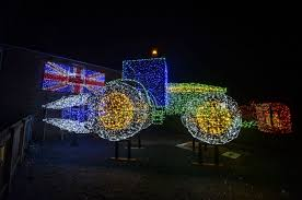 Festive farmer spreads Christmas cheer with tractor made of 11,000 ...