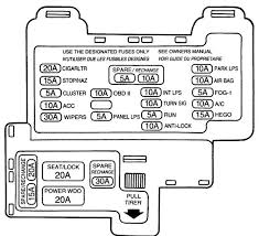 mercury cougar th generation fuse box diagram mercury cougar 7th generation 1989 1997 fuse box diagram