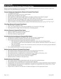 Sample Research Oposal Paper Apa Format Ideas Collection For