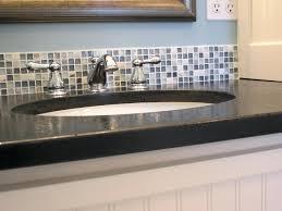 glass tile backsplash install mosaic bathroom installing