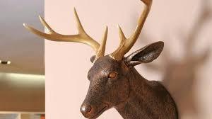 diy mounted stuffed animal head wall mount giraffe faux taxidermy felt safari