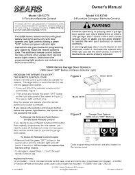 clicker garage door keypad instructionsSears Garage Door Opener Manual Cute On Liftmaster Garage Door