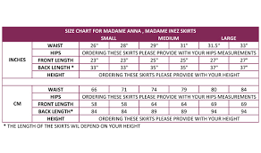Hip Measurement Chart Size Guide Aga Be You Tiful Well Made Tango Clothing