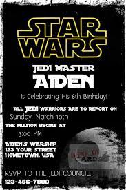 star wars birthday invite template star wars birthday party invitations star wars birthday party