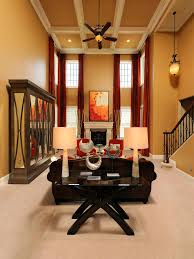 Two Story Living Room Curtains Photo Page Hgtv