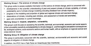 essay on global warming and greenhouse effect working group i ii and iii