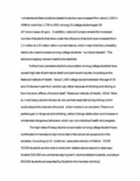 alcohol abuse among college students essay alcohol abuse among image of page 3