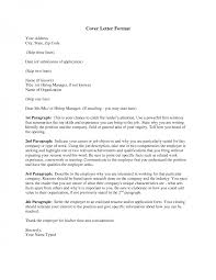 Cover Letter Format For Job Application Letters Online Applications