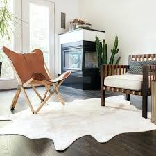 cowhide area rug faux cowhide ivory area rug brown and white cowhide area rug