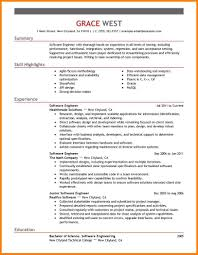 Excellent Resume Format For Experienced Software Engineers Gallery