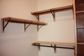 image of wooden closet rod bracket home