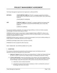 Project Contract Sample Under Fontanacountryinn Com