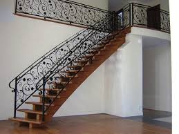 Beautifully Detailed Iron Top Staircase Railing