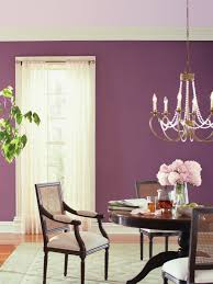 purple dining room decorating ideas eggplant walls best paint on lavender with chairs and gold