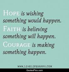 Hope And Faith Quotes Custom Hope Faith And Courage Anonymous Quotes Pics