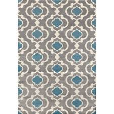 moroccan trellis contemporary gray blue 8 ft x 10 ft indoor area rug 310 gryblu 8x10 the home depot