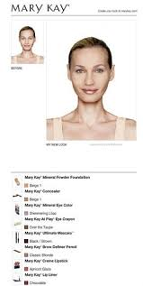 i just got a great new look using the free mary kay virtual makeover